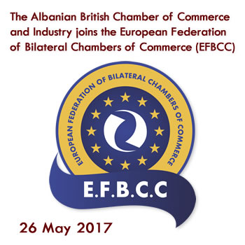 The Albanian British Chamber of Commerce and Industry joins the European Federation of Bilateral Chambers of Commerce (EFBCC)